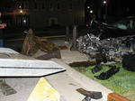 Boy Lincoln Statue struck by car - April 10, 2011